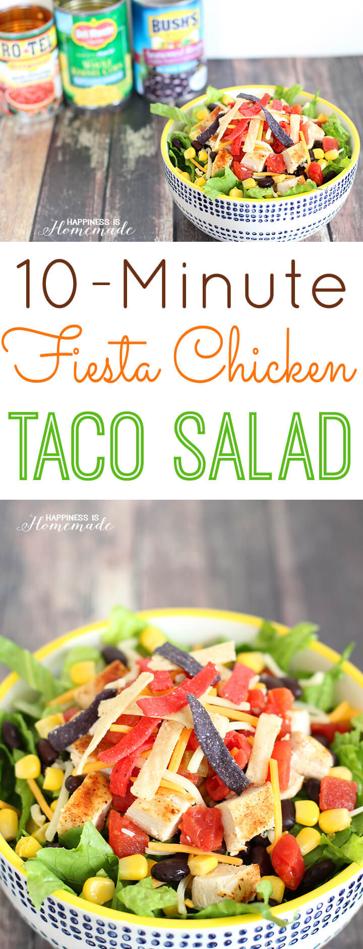 10-Minute Fiesta Chicken Taco Salad