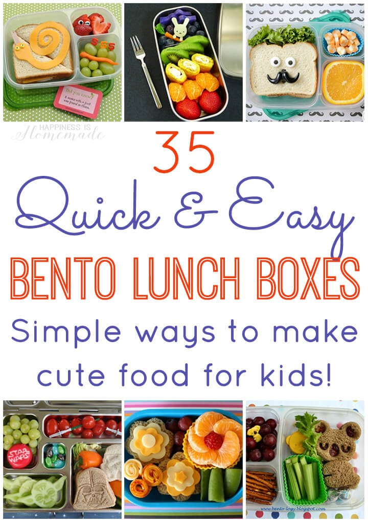 35 quick easy bento lunch boxes happiness is homemade 35 quick and easy bento lunch ideas simple ideas for making cute food for kids forumfinder