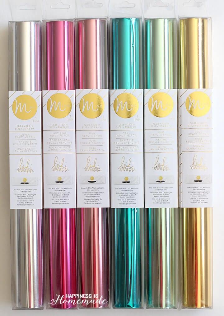 Colorful Minc Foils