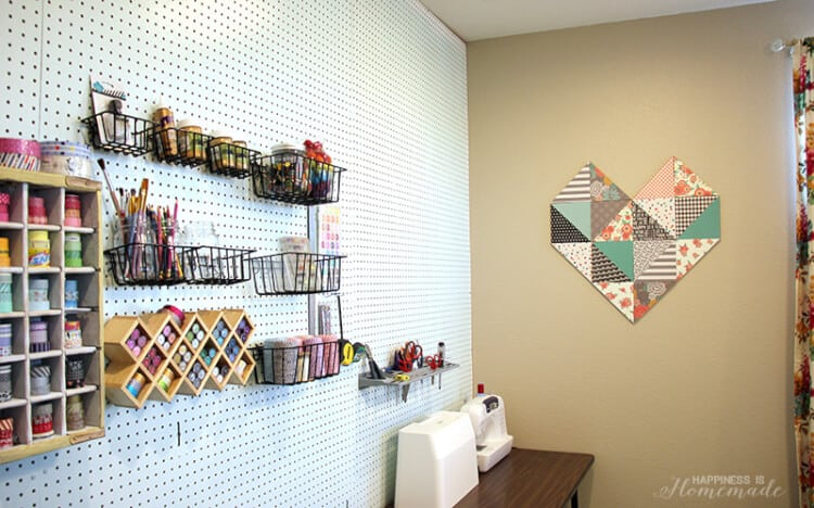 Craft Room Walls with Geometric Heart copy