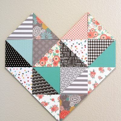 Geometric Heart Wall Decor