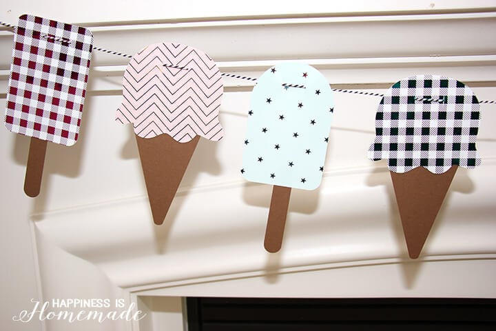 Ice Cream Cone and Popsicle Foil Banner