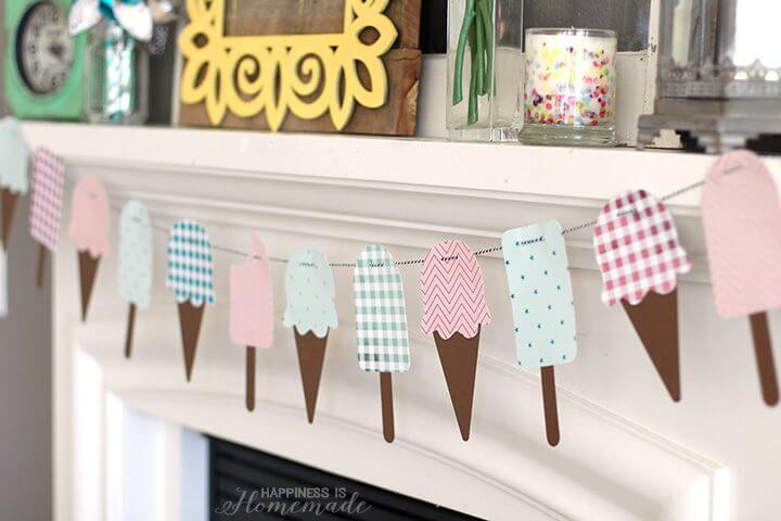 Ice Cream Cone & Popsicle Summer Banner