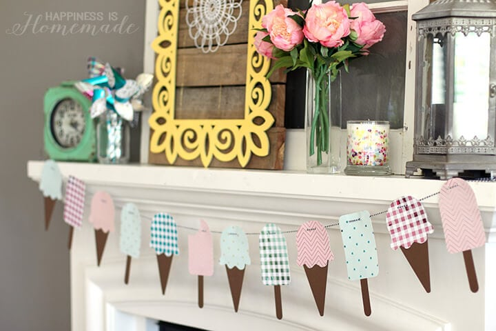 Metallic Foil Ice Cream Banner for Summer with the Minc Machine