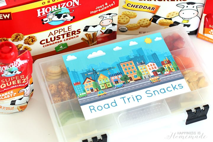 Road Trip Snack Kit with Horizon Organic Snacks