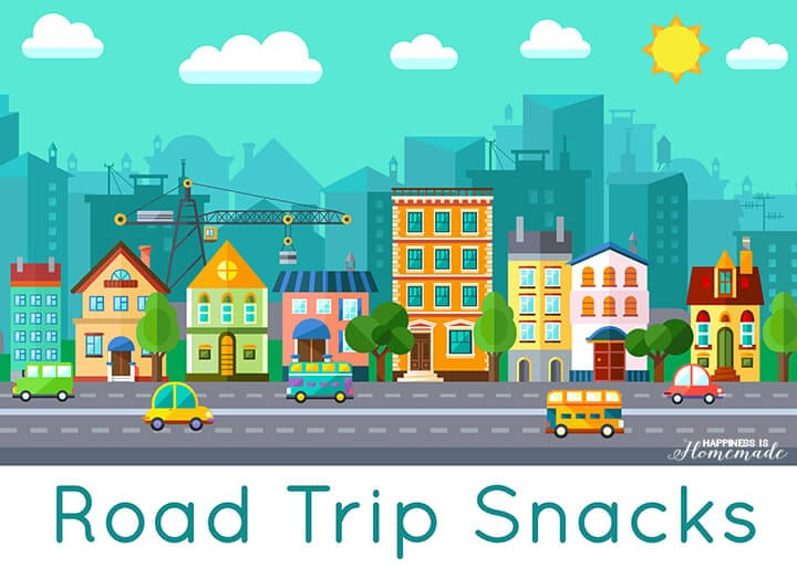 Road Trip Snacks Printable Label