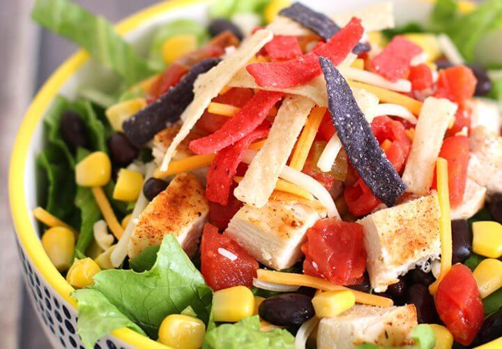 Quick & Easy Fiesta Chicken Taco Salad