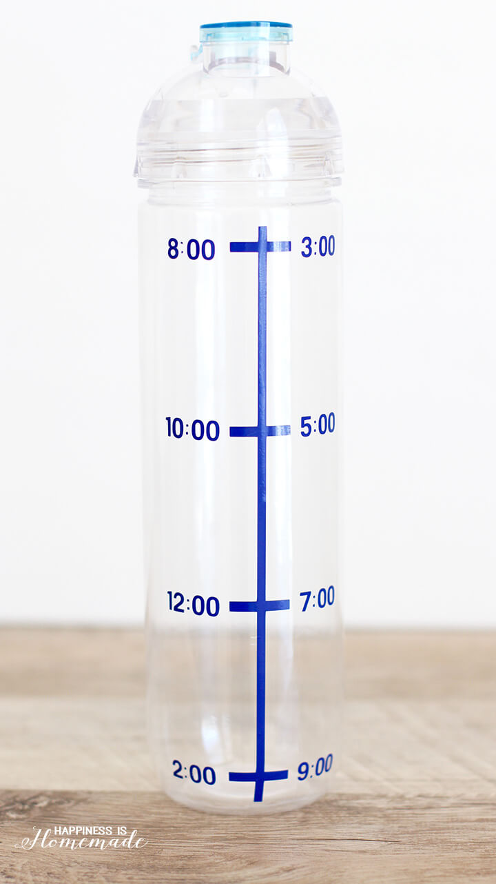 Time Marked Water Bottle for Hydration Motivation