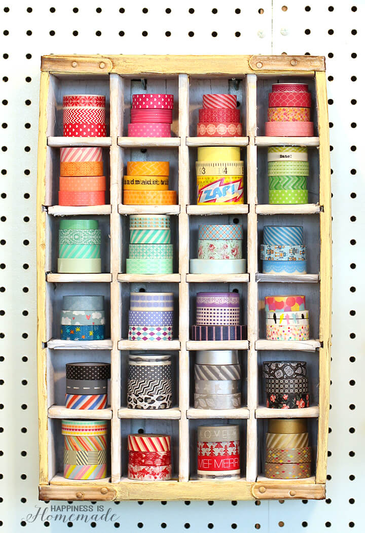 Vintage Soda Crate To Washi Tape Storage Happiness Is