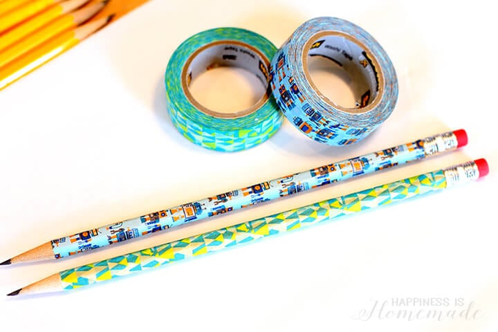 Washi Tape Covered Pencils