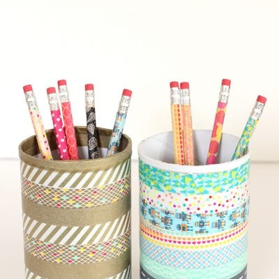 Washi Tape Pencils and Desk Cup
