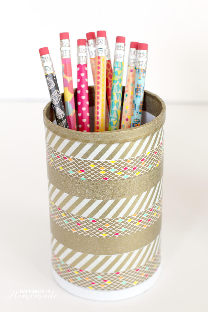Washi Tape Pencils And Desk Cup Happiness Is Homemade