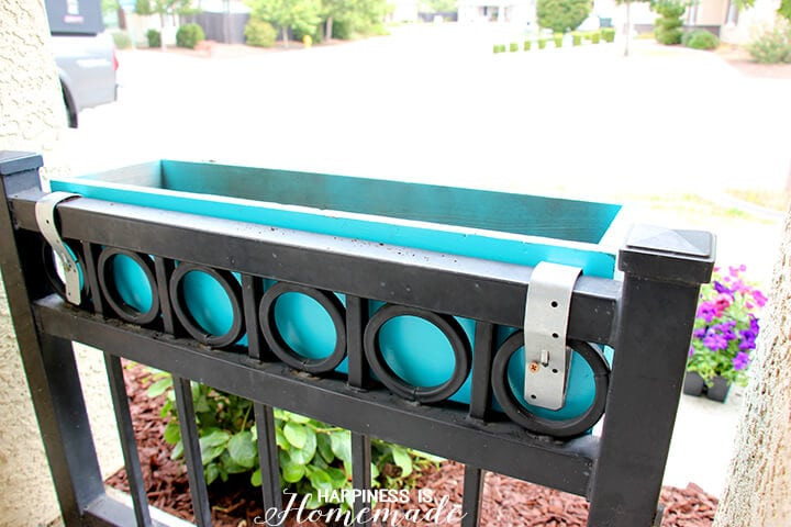 Attaching DIY Window Planter Boxes with Plumbing Straps
