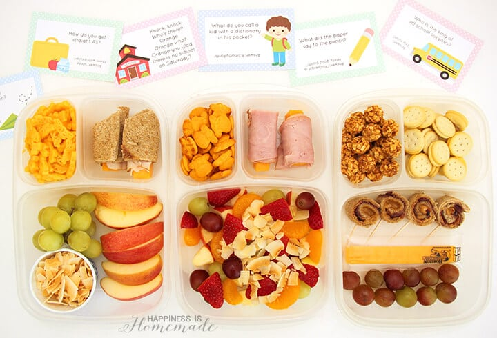 Back to School Lunch Box Ideas and Printable Lunchbox Notes and Jokes
