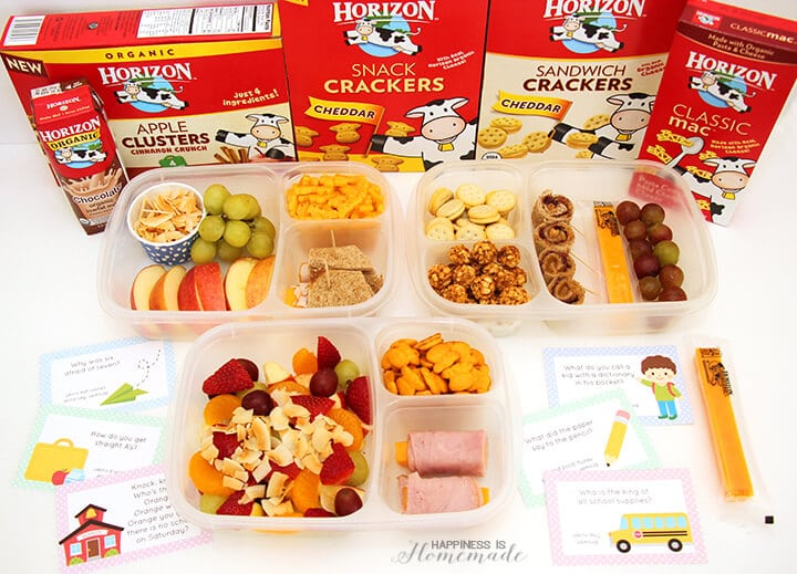 Back to School Lunch Ideas and Printable Lunch Notes