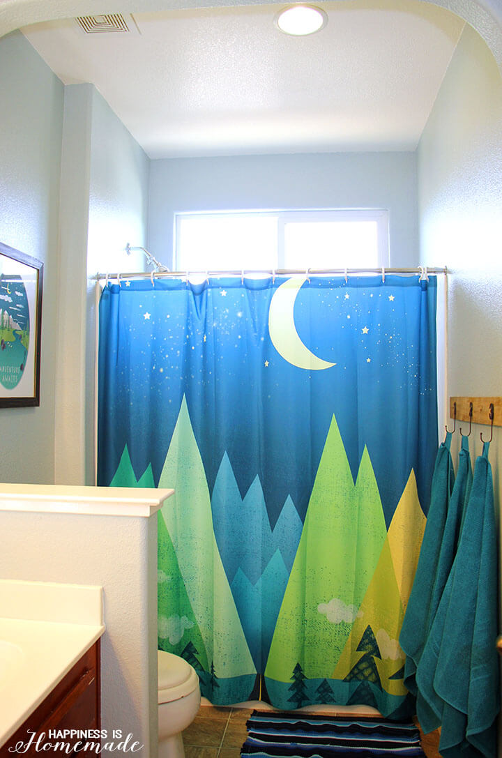 Boys' Adventure Themed Bathroom Makeover