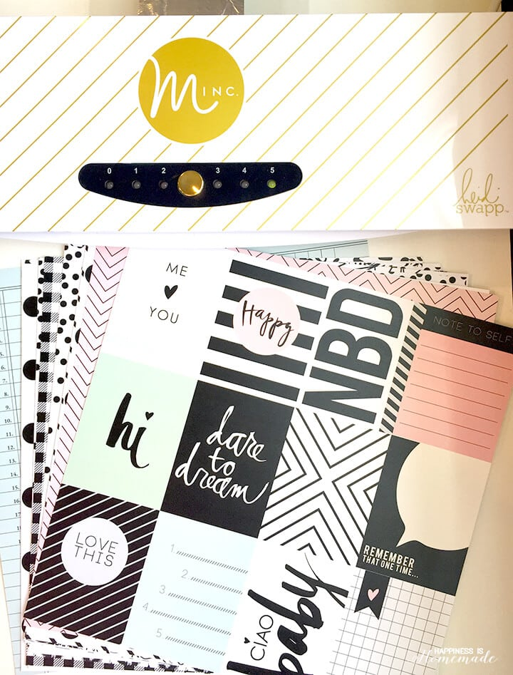 Minc Foil Applicator Machine and Heidi Swapp Papers