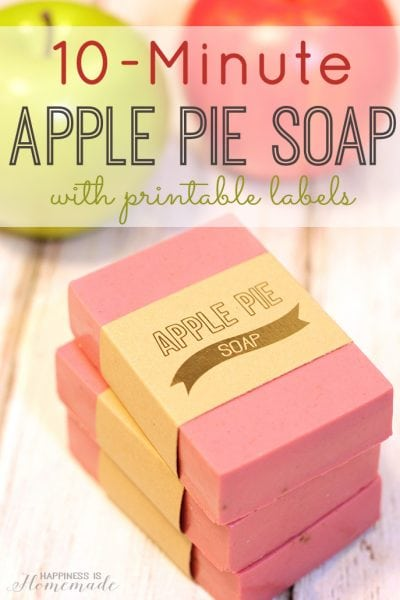 10-Minute Apple Pie Soap with Printable Labels