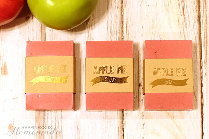 Apple Pie Soap & Printable Foil Labels