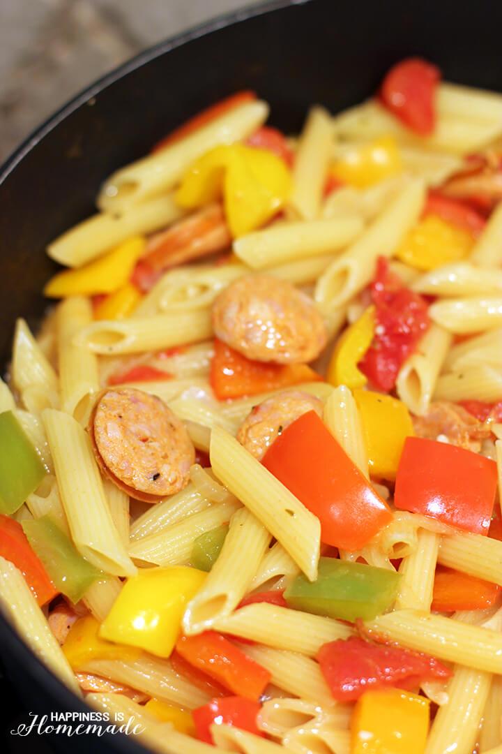 Barilla Pronto Penne Pasta Chicken Sausage Cacciatore