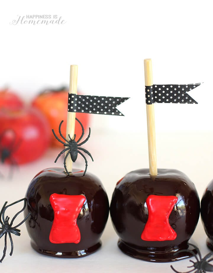 Black Widow Spider Candy Apples Goosebumps