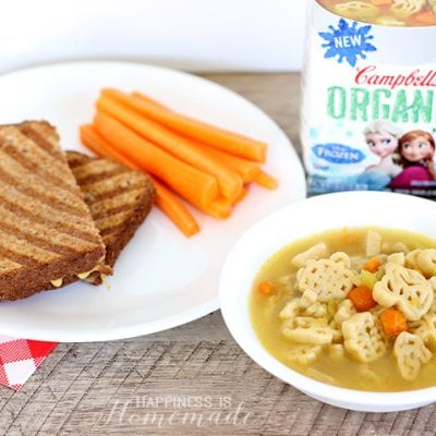 Kids Cook: Organic Soup & Grilled Cheese Lunch