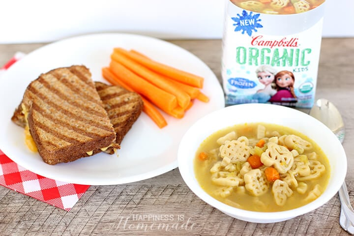 Campbells Organic Kids Soup and Grilled Cheese Lunch