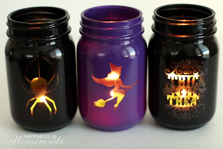 Easy Halloween Mason Jar Luminarias Lantern Decorations