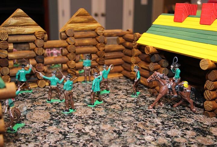 Frontier Logs Cowboys