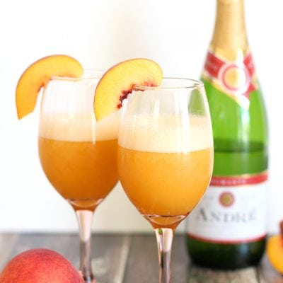 Frozen Blended Peach Bellini  + Celebration Printables