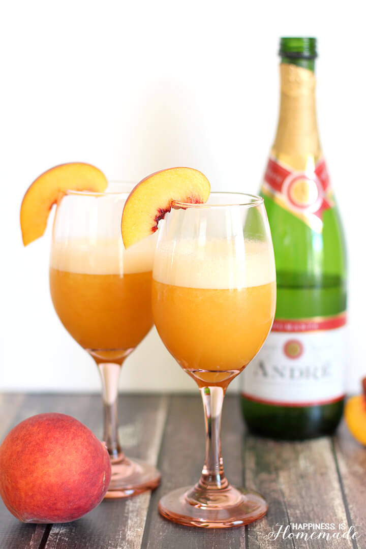 Frozen Blended Peach Bellini + Celebration Printables - Happiness is ...