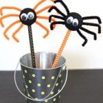 Halloween Kids Craft: Spider Pencils