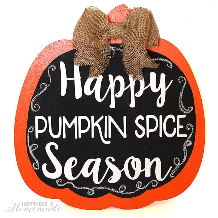 Happy Pumpkin Spice Season Fall Door Decoration