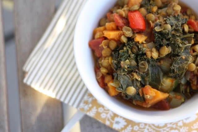 Lentil Kale and Sweet Potato Stew