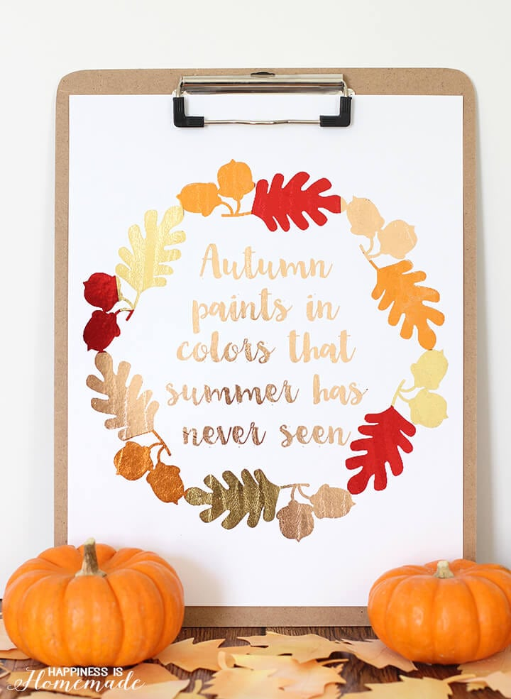 Minc Foil Autumn Print