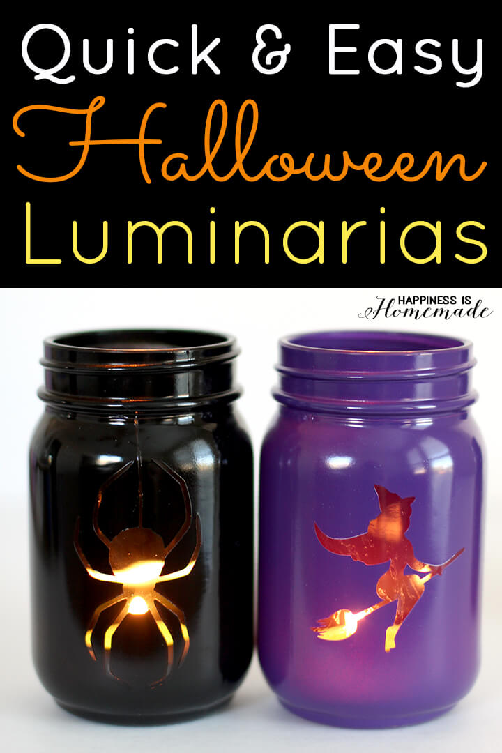 easy halloween crafts ideas easy jar luminarias happiness is 4357