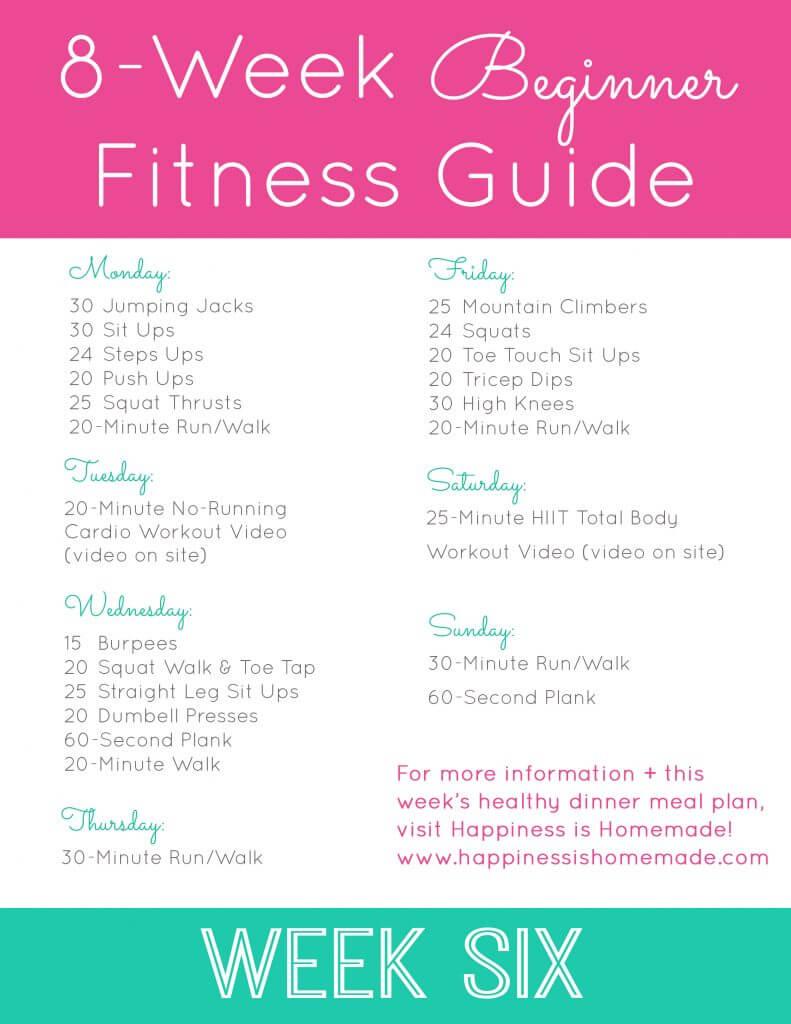 Week Six Workout Plan