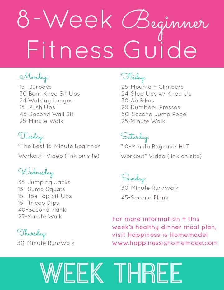 Week Three Workout Plan
