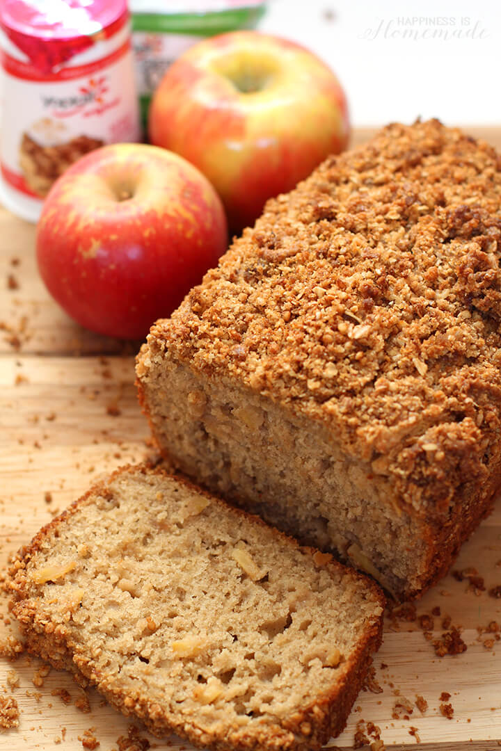 Apple Cinnamon Bread with Granola Streusel