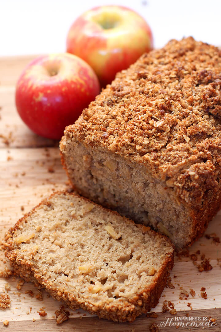 Apple Granola Yogurt Streusel Bread