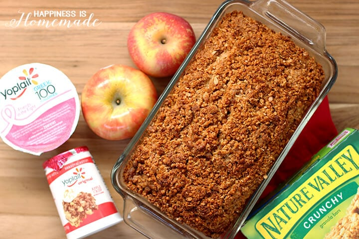 Apple and Granola Yogurt Bread