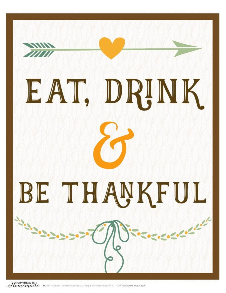 image about Thankful Printable identified as Take in, Consume Be Grateful\