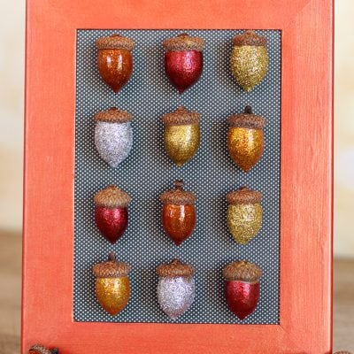 Fall Specimen Art: Glittered Acorns