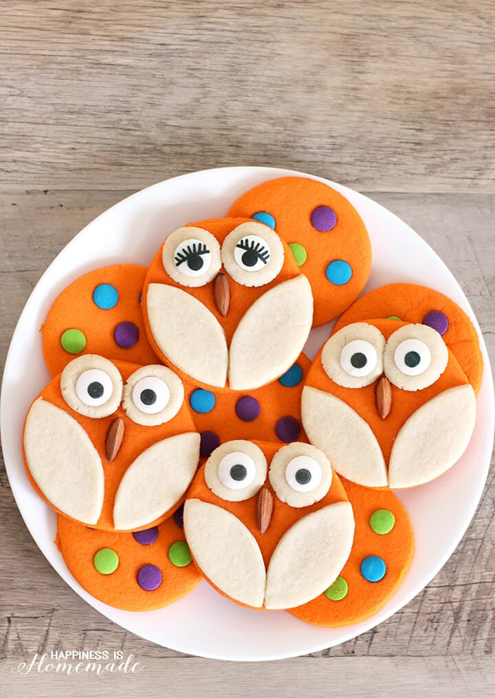 Owl and Polka Dot Halloween Cookie Recipe
