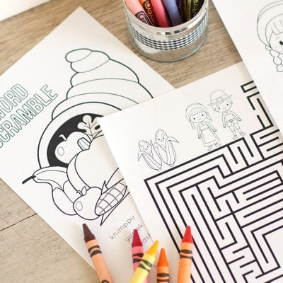 Thanksgiving Coloring & Activity Book