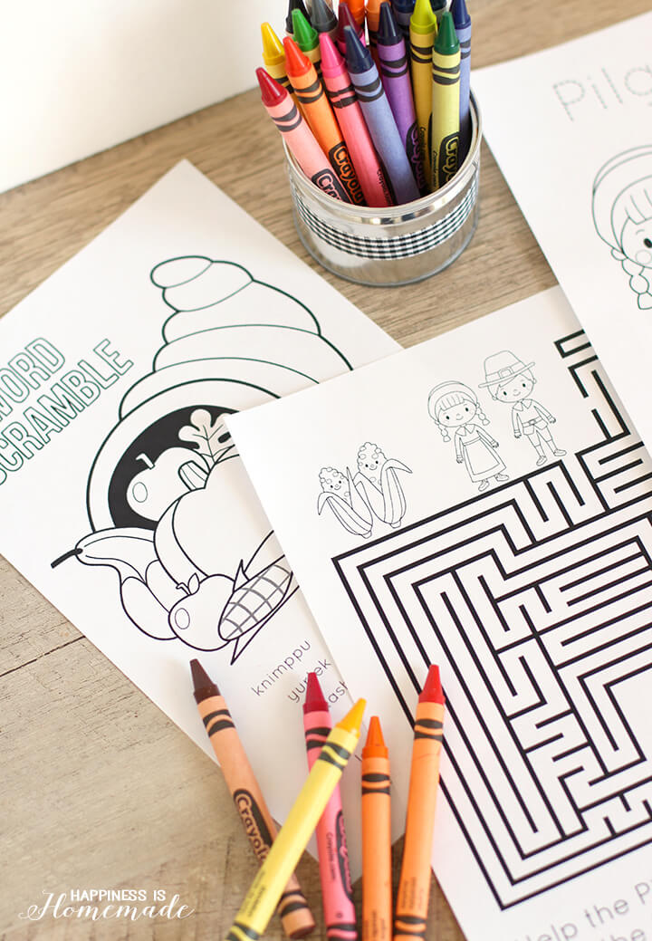 - Thanksgiving Coloring & Activity Book - Happiness Is Homemade