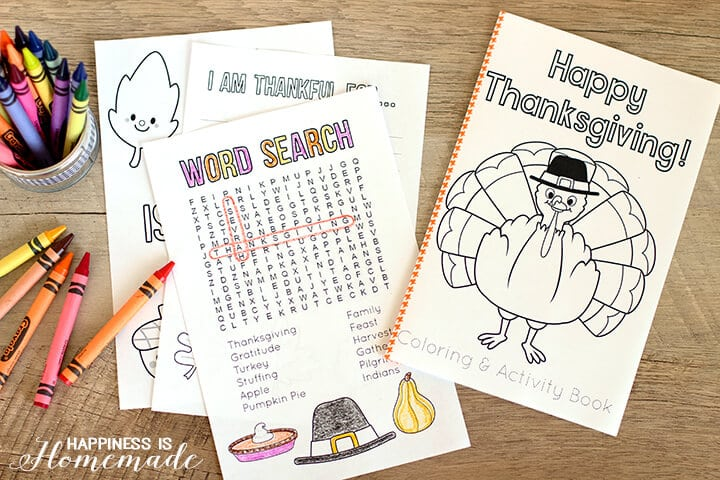 photo about Printable Activity Books identify Thanksgiving Coloring Sport Ebook - Contentment is Handmade