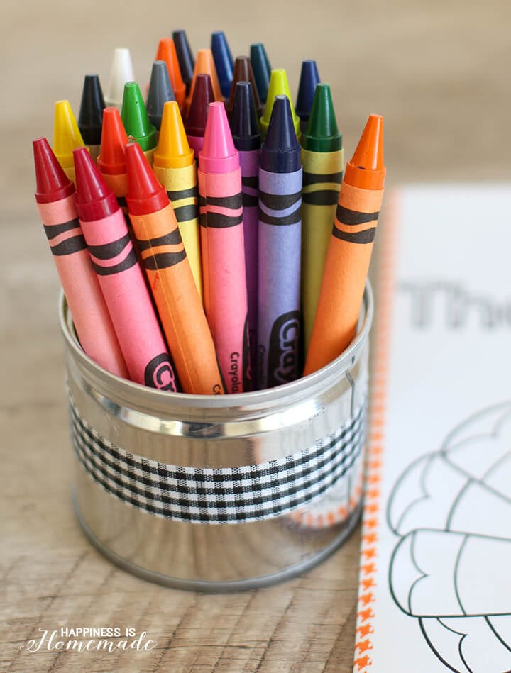 Use Recycled Cans to Hold Crayons