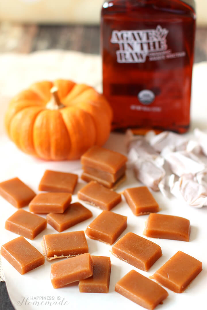Agave In The Raw Sugar-Free Pumpkin Spice Caramels