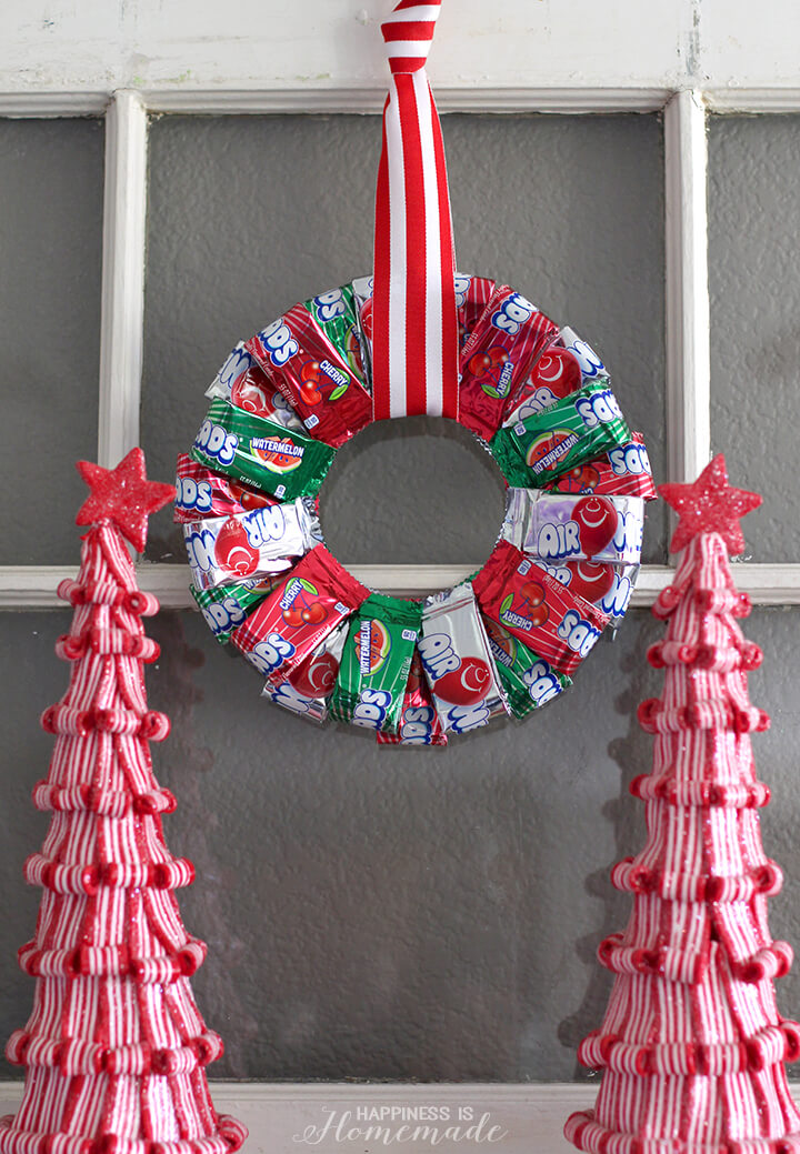 Airheads Christmas Candy Wreath Gift Idea